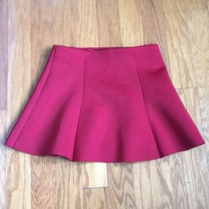 Forever 21 Japan red scuba circle skirt size M